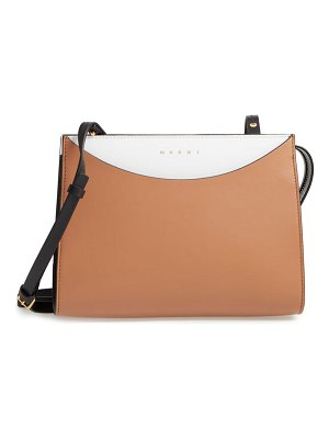 Marni law colorblock leather clutch