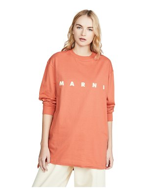 Marni logo long sleeve tee