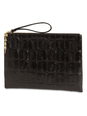 Marni Medium artz croc embossed leather clutch