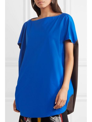 Marni oversized cape-back two-tone cotton top