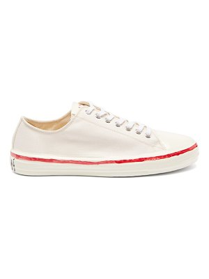 Marni painted cotton-canvas trainers