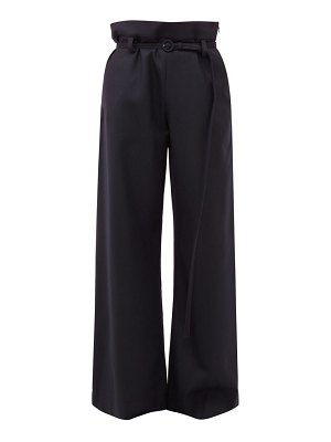 Marni paperbag waist flannel trousers