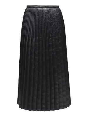 Marni pleated floral-embossed faux-leather midi skirt