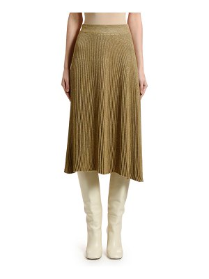 Marni Pleated Knit Midi Skirt
