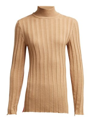 Marni roll neck ribbed wool sweater