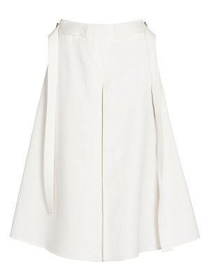 Marni sateen a-line pleat skirt