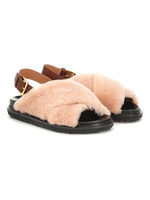 Marni shearling and leather sandals