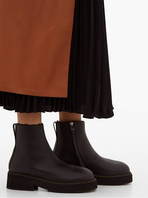 Marni shearling lined platform leather boots
