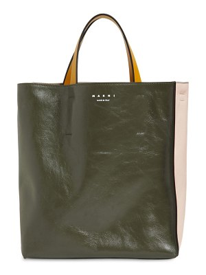 Marni Sm museo soft smooth leather tote