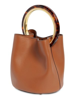 Marni Small pannier leather bucket bag