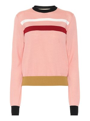 Marni striped wool-blend sweater