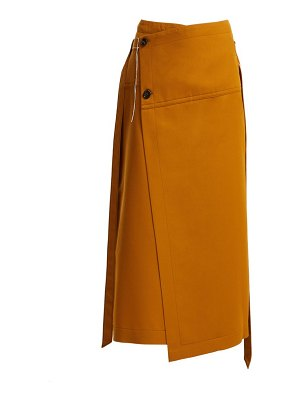 Marni Tie Waist Wool Wrap Skirt