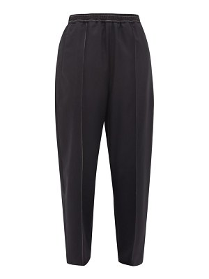 Marni top-stitched tropical virgin wool trousers