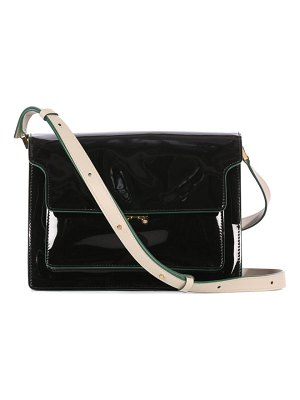 Marni trunk large patent-leather cross-body bag