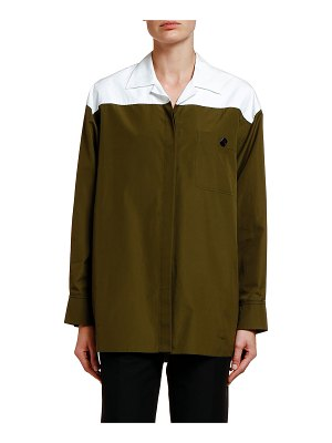 Marni Two-Tone Oversized Button-Front Shirt