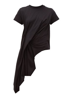 Marques Almeida asymmetric draped cotton t-shirt
