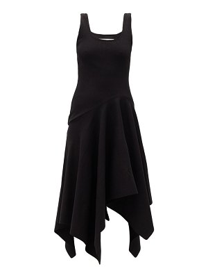 Marques Almeida asymmetric-hem ribbed cotton-blend dress