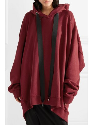 Marques' Almeida asymmetric oversized cotton-jersey hooded top