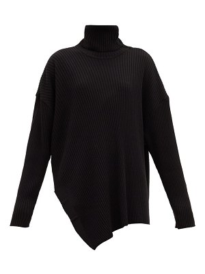 Marques Almeida asymmetric roll-neck merino-wool sweater