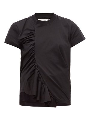 Marques Almeida asymmetric ruched cotton t-shirt