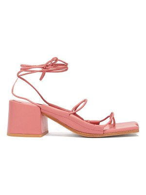 Marques Almeida asymmetric toe wrap around leather sandals