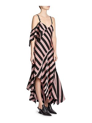 Marques Almeida asymmetrical striped midi dress