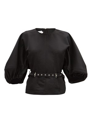 Marques Almeida belted recycled-jersey top