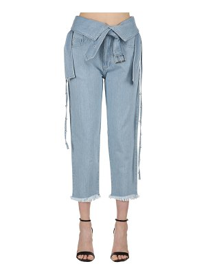 Marques Almeida Belted washed denim jeans