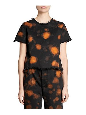 Marques Almeida bleach print raw edge top