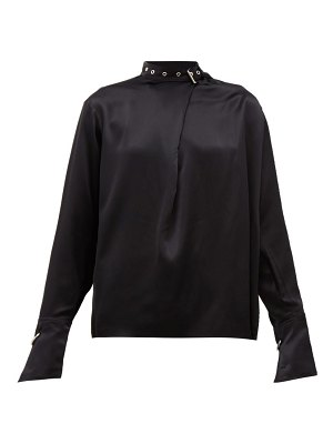 Marques Almeida buckled neck silk charmeuse blouse