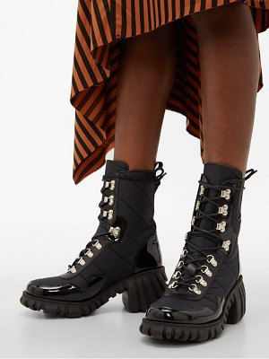 Marques Almeida chunky sole quilted leather trimmed boots