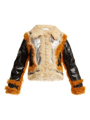 Marques Almeida contrast trim shearling jacket