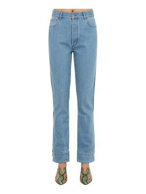 Marques Almeida Cuffed cotton denim jeans