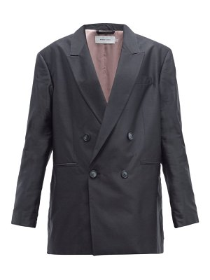 Marques Almeida double breasted oversized silk blazer