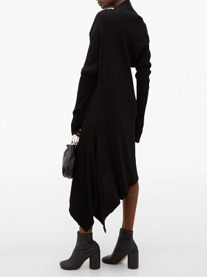 Marques Almeida draped asymmetric knitted merino-wool dress
