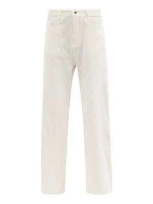 Marques Almeida floral-brocade recycled fibre-blend trousers