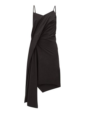 Marques Almeida gathered asymmetric poplin slip dress