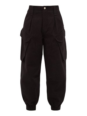 Marques Almeida high-rise cropped denim cargo trousers