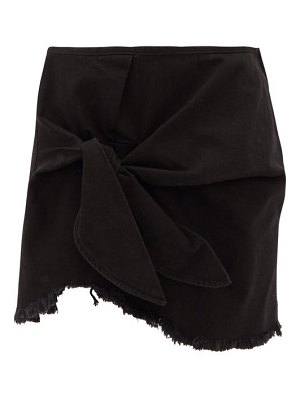 Marques Almeida knotted denim mini skirt