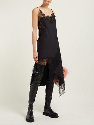 Marques Almeida lace-insert cotton dress