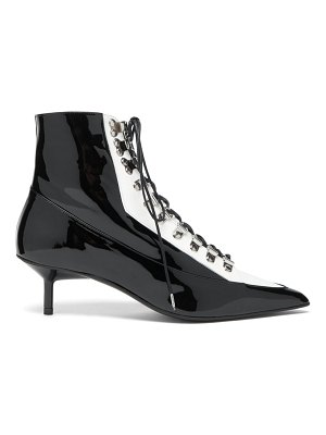 Marques Almeida lace up patent leather boots