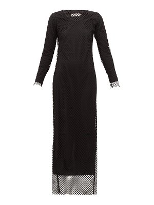 Marques Almeida long-sleeved mesh maxi dress