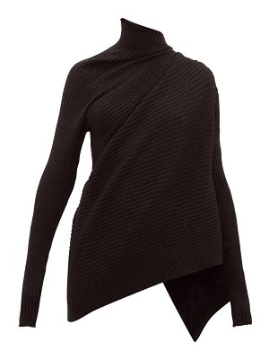 Marques Almeida metallic draped high-neck wool sweater