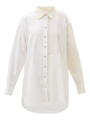 Marques Almeida oversized panelled upcycled-cotton shirt