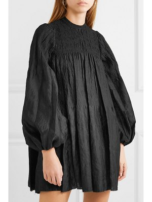 Marques' Almeida oversized ruched crinkled crepon-jacquard mini dress