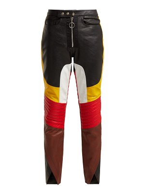 Marques Almeida panelled leather biker trousers
