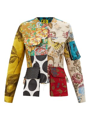 Marques Almeida patchwork upcycled cotton-blend twill jacket