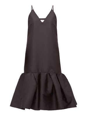 Marques Almeida peplum-hem taffeta slip dress