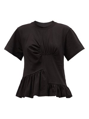 Marques Almeida peplum organic and recycled-cotton jersey t-shirt