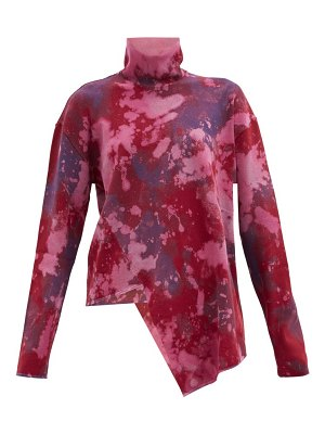 Marques Almeida roll-neck bleached asymmetric jersey sweater